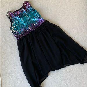 Flip Sequin Bodice Dress